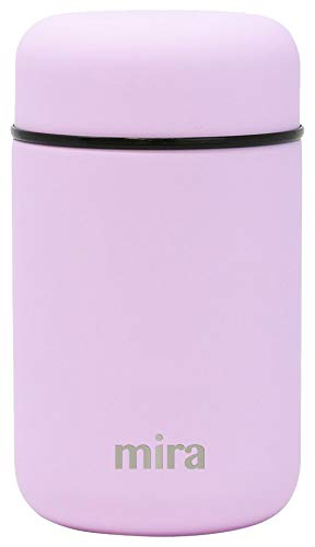 MIRA Lunch, Food Jar - Vacuum Insulated Stainless Steel Lunch Thermos - 13.5 oz - Lilac