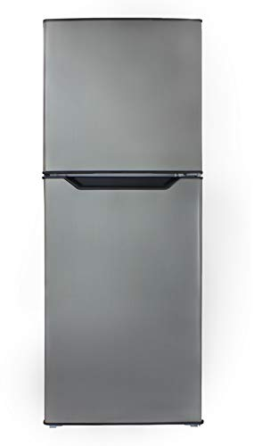 Danby DFF070B1BSLDB-6 7.0 Cu.Ft. Mid-Size Refrigerator, Frost-Free Apartment Fridge with Top Freezer, E-Star Rated, 7, Black Stainless Look