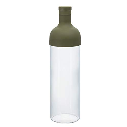 Hario Filter-In Cold Brew Tea Bottle, 750ml, Olive Green