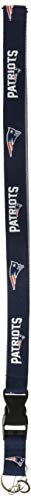 Pro Specialties Group NFL New England Patriots Two-Tone Lanyard, Navy/Silver, One Size