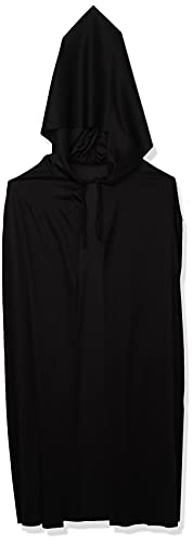 Rubie's mens Hooded Cape 3/4 Length Costume, Black, One Size Party Supplies, Black, One Size US