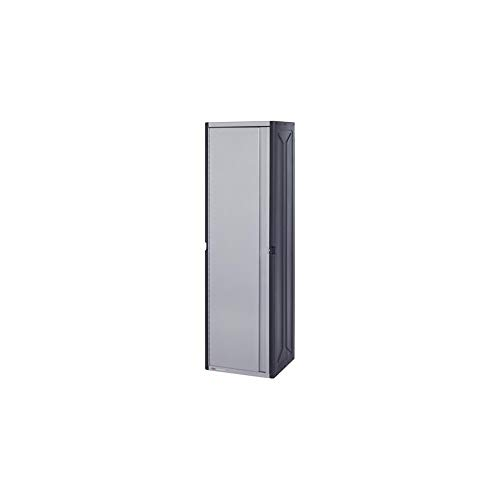 Rubbermaid FastTrack 14 x 16 x 56 Inch Garage Power Tool Locker Cabinet Kit Rail Wall Storage System