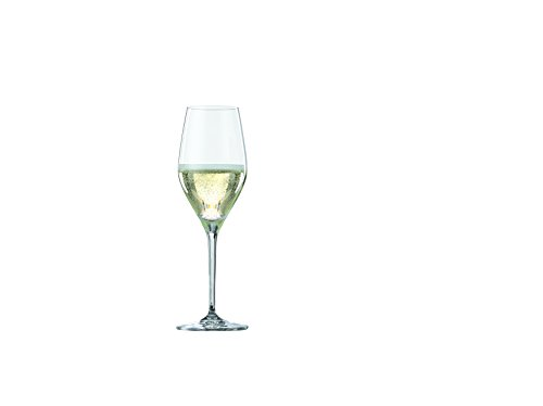 Spiegelau Prosecco, Set of 4 European-Made No-Lead Crystal, Classic Stemmed, Dishwasher Safe, Professional Quality Wine Gift Set, 9.1 oz, Champagne Glass