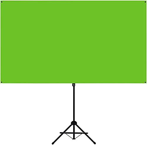 Valera Explorer 70 Inch Portable Green Screen Backdrop with Stand + Background Gallery Premium Membership for Zoom Video Streaming – Tripod & Wall Mount | 2 min Setup | 16:9 Format | Chroma Key Fabric