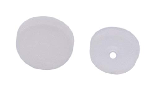 CRL White Flat Large Snap Cap Screw Covers - Package of 100