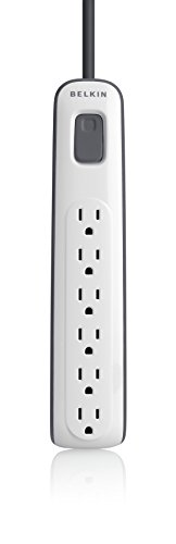 Belkin 6 Outlet AV Power Strip Surge Protector with 4Foot Power Cord, 600 Joules BV10600004