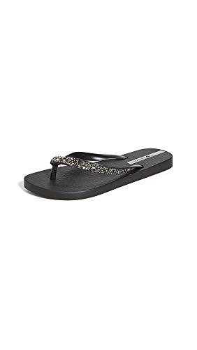 Ipanema Sandals Pebble, Black, Size 8