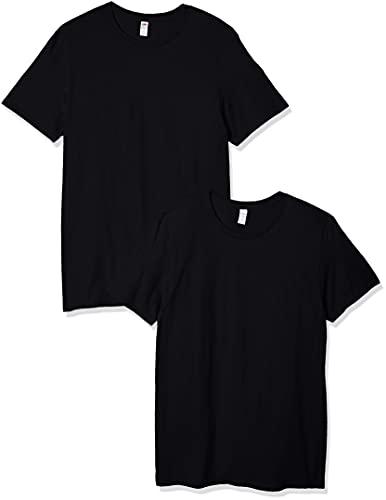 Fruit of the Loom Men's Crew T-Shirt (2 Pack), Black, XX-Large