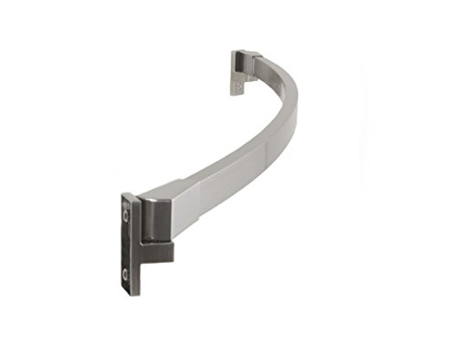 Preferred Bath Accessories 112-5BN-A Curved Shower Rod Adjustable 42' To 62', Brushed Nickel