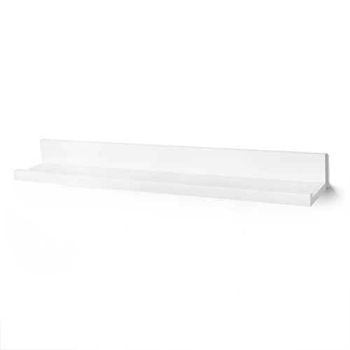 Americanflat Floating Wall Shelf, 36 Inches, White