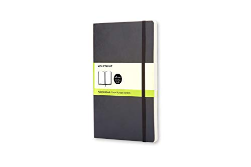 Moleskine Classic Notebook, Soft Cover, Pocket (3.5' x 5.5') Plain/Blank, Black, 192 Pages