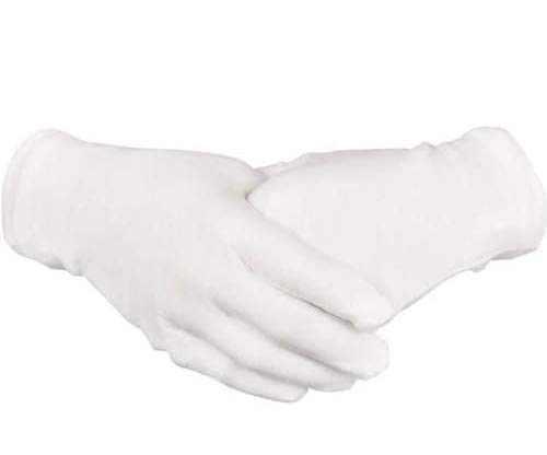 Paxcoo 20 Pairs Large White Cotton Gloves for Cosmetic Moisturizing and Coin Inspection