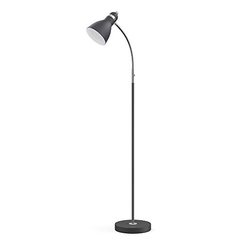 LEPOWER Metal Floor Lamp, Adjustable Goose Neck Standing Lamp with Heavy Metal Based, Torchiere Light for Living Room, Bedroom, Study Room and Office