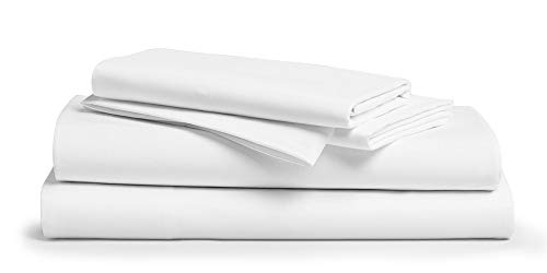 """800 Thread Count 100% Pure Egyptian Cotton – Sateen Weave Premium Bed Sheets, 4- Piece White King- Size Luxury Sheet Set, Fits mattresses Upto 18"""" deep Pocket"""