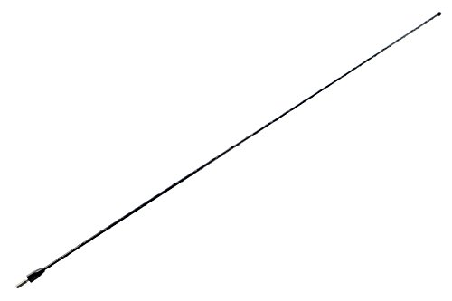 AntennaMastsRus - 27 Inch Black Antenna is Compatible with Nissan Frontier (1998-2021) - Spiral Wind Noise Cancellation - Spring Steel Construction - Stainless Steel Threading