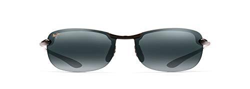 Maui Jim Makaha Rimless Sunglasses, Gloss Black/Neutral Grey Polarized, Medium