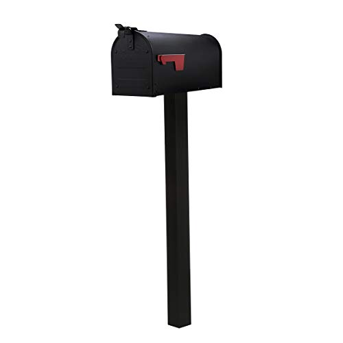 Gibraltar Mailboxes Admiral Rustproof, Curbside Mailbox with Matching Post All-in-One Kit