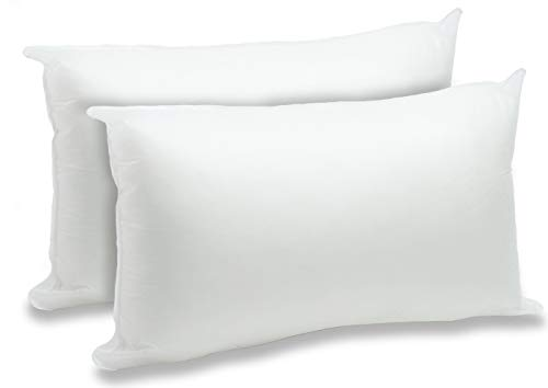 Foamily 2 Pack - 12' x 20' Premium Hypoallergenic Lumbar Stuffers Pillow Inserts Sham Square Form Polyester, Standard/White