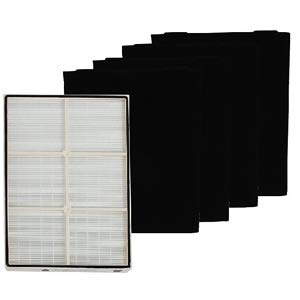LifeSupplyUSA COMPLETE SET True HEPA Replacement Filter Compatible with Kenmore 83375 83376 with PLASTIC FRAME Includes 4 Pre-Filters