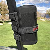 The Original Bushwhacker Portable Speaker Mount for Golf Cart Railing - Adjustable Strap Fits Most Bluetooth Wireless Speakers Attachment Accessory Holder Bar Rail