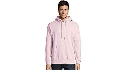 Hanes Men's Pullover Ecosmart Fleece Hooded Sweatshirt, pale pink, X Large