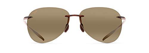 Maui Jim Sugar Beach Aviator Sunglasses, Rootbeer/HCL Bronze Polarized, Large