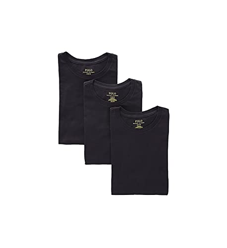 Polo Ralph Lauren Classic Fit w/Wicking 3-Pack Crews 3 Black/Rl2000 Red Pp MD