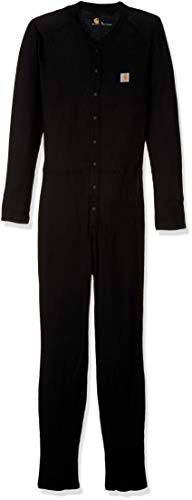 Carhartt Men's Size Force Classic Thermal Base Layer Union Suit, Black, Large Tall