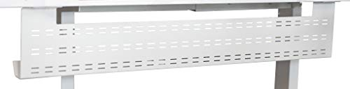 Stand Up Desk Store Under Desk Cable Management Tray Black Horizontal Computer Cord Raceway and Modesty Panel (White, 51')
