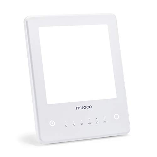 Light Therapy Lamp, Miroco UV Free 10000 Lux Brightness, Timer Function, Touch Control, Standing Bracket, for Home/Office Use