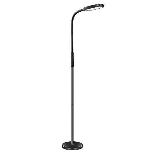 Miroco LED Floor Lamp with 5 Brightness Levels & 3 Color Temperatures, 1815 Lumens, Height Adjustable LED Floor Light, Dimmable Reading Standing Lamp for Sewing Living Room Bedroom Office