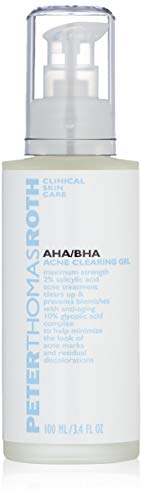 Peter Thomas Roth AHA/BHA Acne Clearing Gel, Maximum-Strength Salicylic Acid Acne Treatment, Clears Up and Helps Prevent Acne, Helps Minimize the Look of Acne Marks and Pores