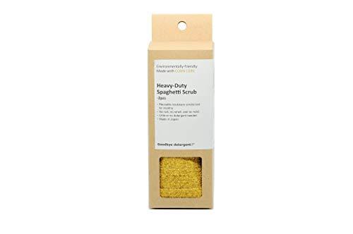 Goodbye Detergent Spaghetti Corn Scrub - Heavy Duty for Tough Stain, 2 Per Box