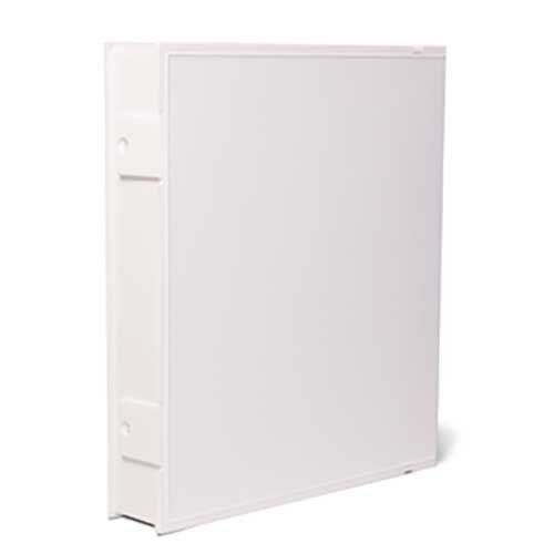 Vue-All Archival Safe-T-Binder with Rings, White