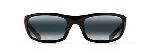 Maui Jim Stingray Rectangular Sunglasses, Gloss Black/Neutral Grey Polarized, Medium