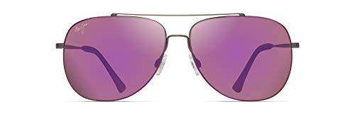 Maui Jim Cinder Cone Aviator Sunglasses, Satin Sepia/MAUI Sunrise Polarized, Medium