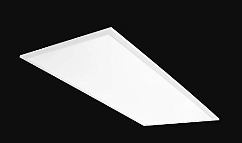 2x4' LED Flat Panel Light: 50W Recessed Drop Ceiling Light - Troffer | 4000K White EDGE-LIT Lighting | 5952 Lumens - Dimmable & Easy Installation