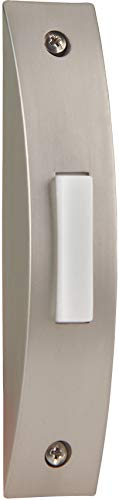 Craftmade BSCS-BN Designer Surface Mount Contemporary Lighted Doorbell LED Push Button, Brushed Nickel (4.13' x 0.75'W)