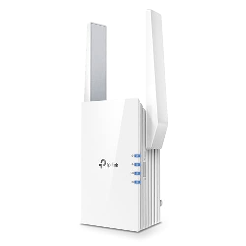 TP-Link AX1500 WiFi Extender Internet Booster, WiFi 6 Range Extender Covers up to 1500 sq.ft and 25 Devices,Dual Band up to 1.5Gbps Speed, AP Mode w/Gigabit Port, APP Setup, OneMesh Compatible(RE505X)