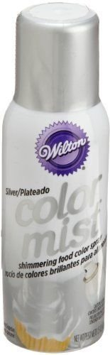 Wilton Silver Color Mist Food Coloring Airbrush Cake Decorating 10 Pack; New