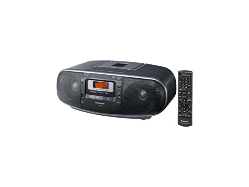 Panasonic RX-D55GC-K Boombox - High Power Portable Stereo AM/FM Radio, MP3 CD, Tape Recorder with USB & Music Port Sound with 2-Way 4-Speaker (Black)