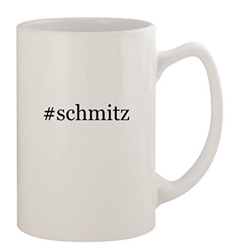 #schmitz - 14oz Ceramic White Statesman Coffee Mug, White