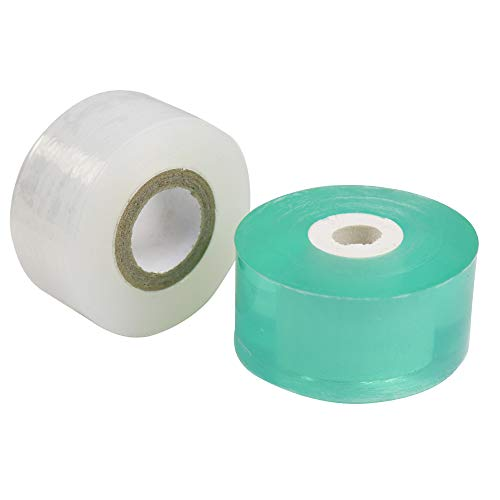 OLOEY Grafting Tape with Good Elasticity, Garden Grafting Tape for Fruit Trees-Green & White(2PCS)