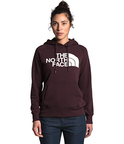 The North Face Women's Half Dome Pullover Hoodie, Root Brown/TNF White, M