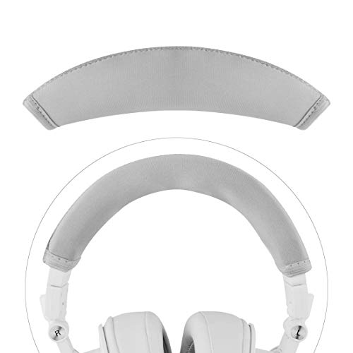 Linkidea Headband Protector, Compatible with ATH M50x, M50xWH, M50xBB Headphones Replacement Headband Cover/Replacement Headband Cushion Pad Repair Parts/Easy DIY Installation (Gray)
