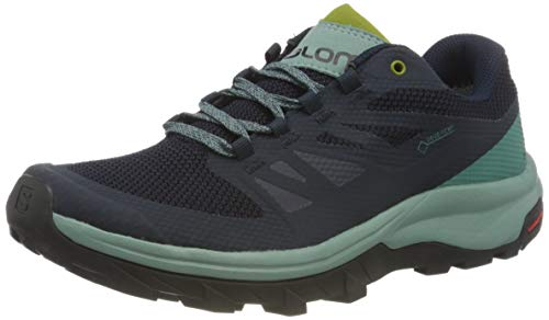 Salomon Women's OUTline GTX W Hiking Shoes, Trellis/Navy Blazer/Guacamole, 10.5