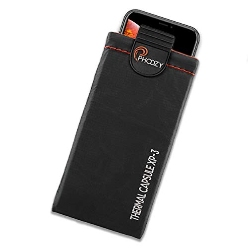 PHOOZY XP3 Series Ultra Rugged Thermal Phone Case - Insulated Weatherproof Phone Pouch Protects Against Cold & Extends Battery Life Stash Pocket MultiPoint Attachment System [Cosmic Black - Medium]