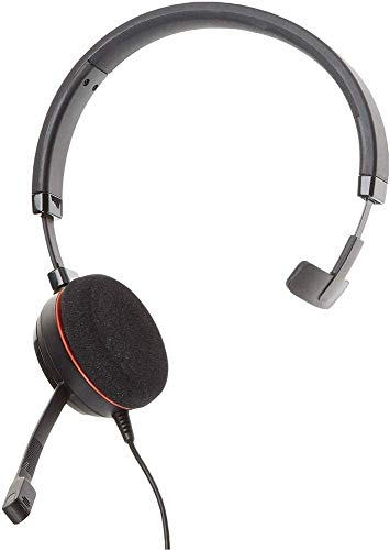 Jabra Evolve 20 MS Teams Wired Headset, Mono Telephone Headset for Greater Productivity, Superior Sound for Calls and Music, USB Connection, All Day Comfort Design