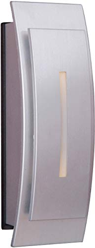 Craftmade TB1020-BN Contemporary Curved Lighted Doorbell LED Touch Button, Brushed Nickel (5'H x 1.06'W)