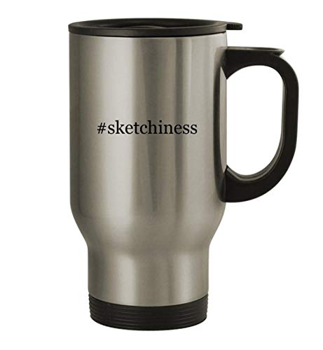 #sketchiness - 14oz Stainless Steel Travel Mug, Silver
